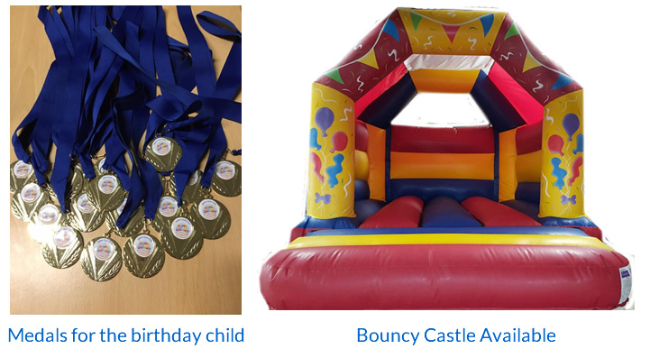 Party Medals and Bouncy Castle